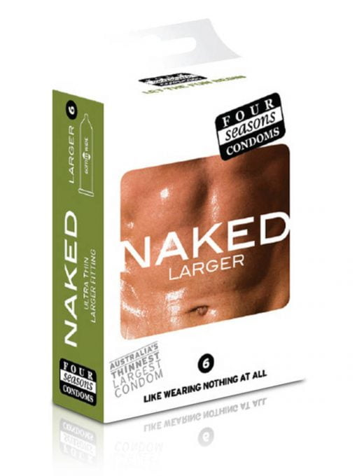 Four Seasons Naked Larger Condoms 6pk-0