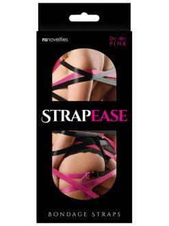 Strap Ease Bondage Straps 2pc - 8ft Pink-0