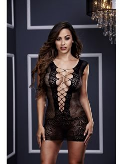 Baci 3130 Ultra Corset Lace Up Cut Out Mini Dress -0