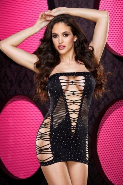 Lapdance Bling Bling Backroom Mini Dress-0