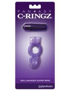 Fan+asy C-Ringz Vibrating Ball-Banger Super Ring-0