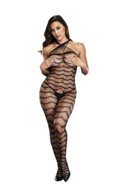 Baci 5002 Criss Cross Crotchless Bodystocking-0