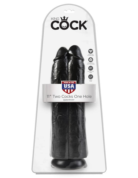 King Cock 11 Inch Two Cocks One Hole -7601