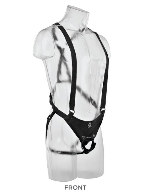 King Cock 11 Inch Two Cocks One Hole Hollow Strap-On Suspender System-7579