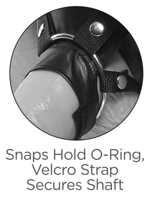 King Cock 11 Inch Two Cocks One Hole Hollow Strap-On Suspender System-7582