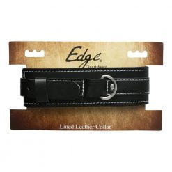 Edge Lined Leather Collar-0